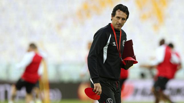 Unai Emery, en el Juventus Stadium