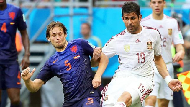 Daley Blind, junto a Costa, cuajó un partidazo ante España