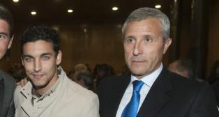 Jesús Navas y Pablo Blanco en la Gala del Fútbol Sevillano de 2010 (Foto: Felipe Guzmán)
