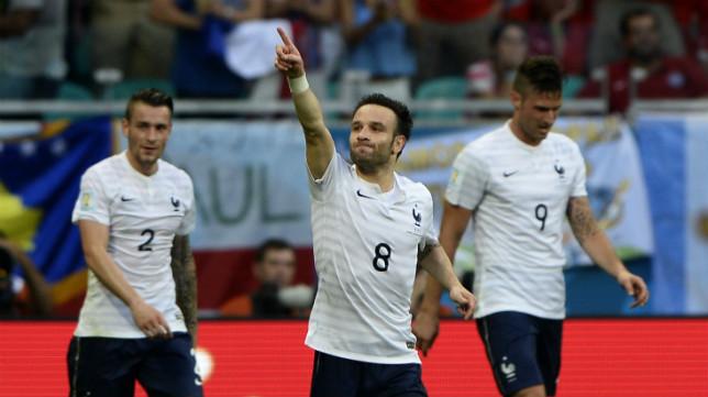 Valbuena, con Francia en el Mundial de Brasil