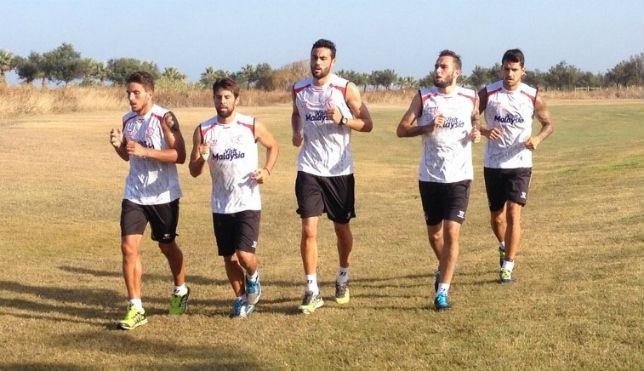 Los jugadores del Sevilla volverán a entrenar próximo miércoles