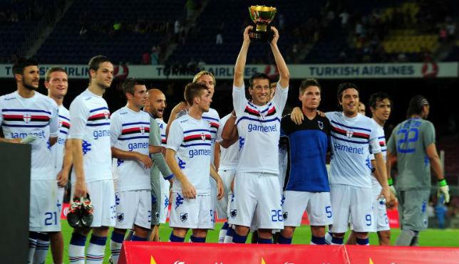 La Sampdoria ya ganó el Gamper ante el Barcelona en el verano de 2012