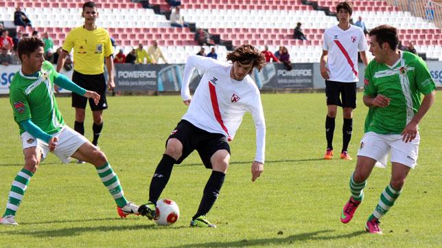 Imagen de un partido del Sevilla Atlético la pasada temporada