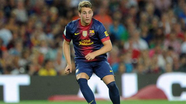 Gerard Deulofeu, en un partido con el Barcelona