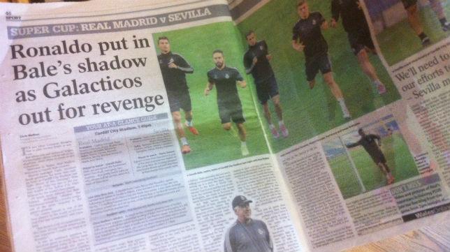 El Real Madrid  copa todas las portadas de los medios de comunicación galeses