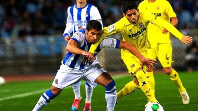 Partido de la temporada pasada entre el la Real Sociedad y el Villarreal