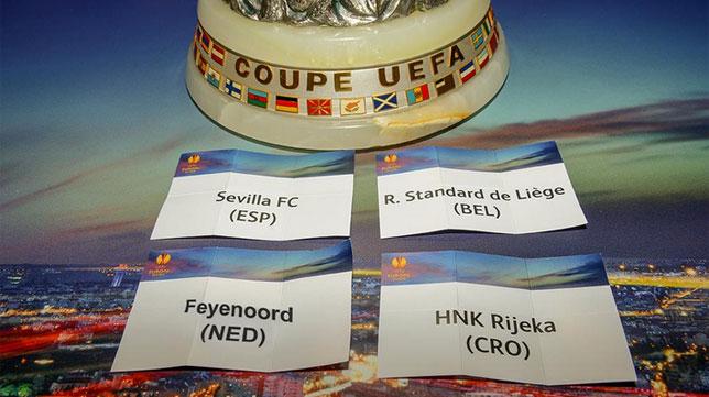 Papeletas del grupo g de la Europa League. Foto: UEFA.com