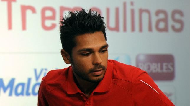 Tremoulinas, en su presentación con el Sevilla FC