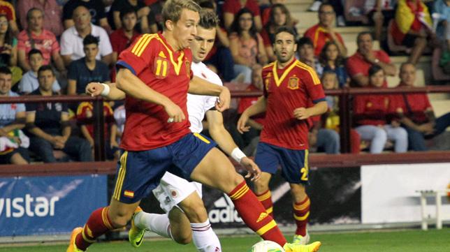 Deulofeu, en un partido con la selección española ante Albania