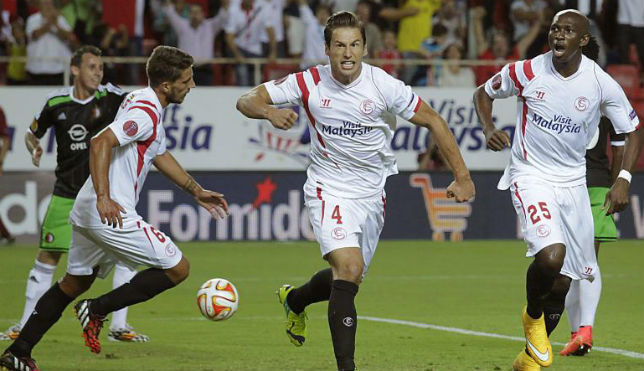 Krychowiak celebra su gol frente al Feyenoord
