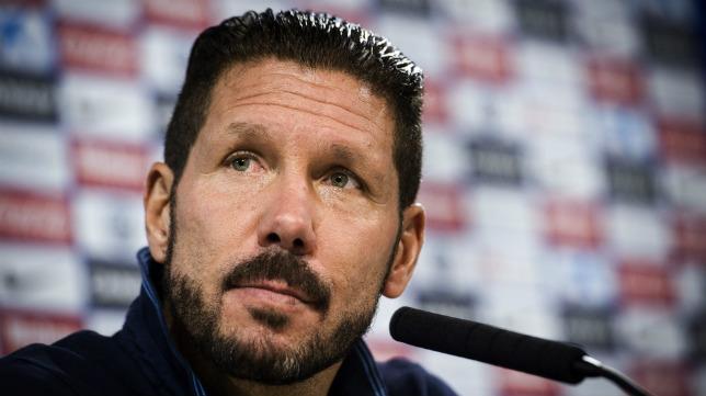 El técnico del Atlético, Diego Pablo Simeone