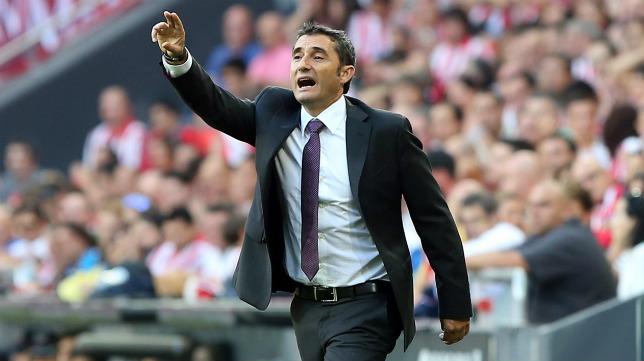 El técnico del Athletic, Ernesto Valverde