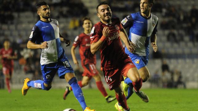 Iago Aspas, en el partido de ida ante el Sabadell en la Copa del Rey del año pasado
