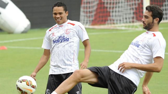 Carlos Bacca, en un entrenamiento