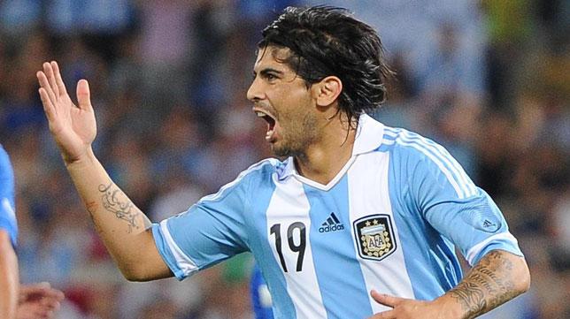 Banega, con la selección argentina