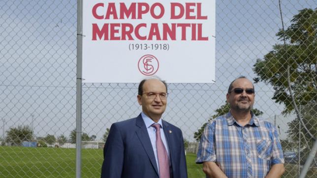 El presidente, José Castro, junto al coordinador del Área de Historia, Carlos Romero (Foto: SFC)