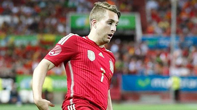 Deulofeu, en un partido con la selección española absoluta