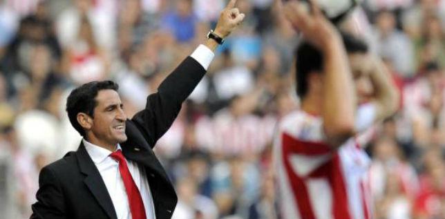 Jiménez, en el partido que el Sevilla FC ganó 0-4 al Athletic en San Mamés