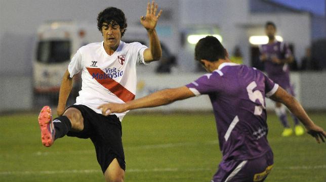 Carlos Fernández en un partido de esta temporada