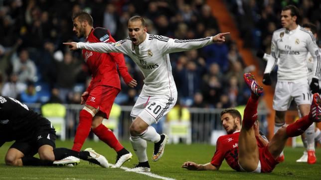 Jesé marca el 2-0 del Real Madrid-Sevilla FC