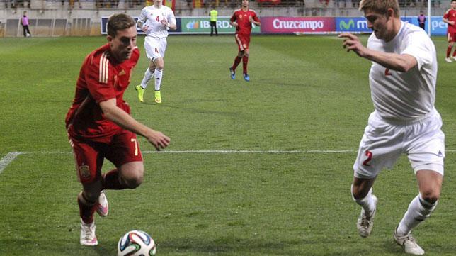 Deulofeu, con la selección española sub 21 (Foto: EFE)