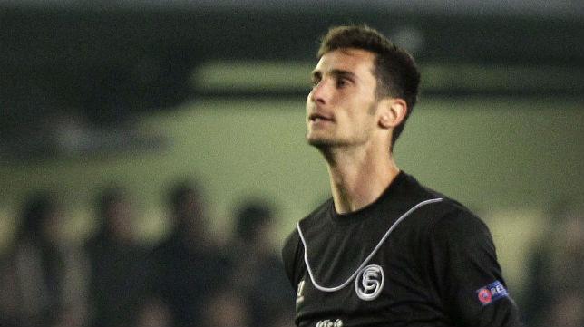 Sergio Rico, durante el partido de la Liga Europa ante el Villarreal (Foto: Domenech Castelló)