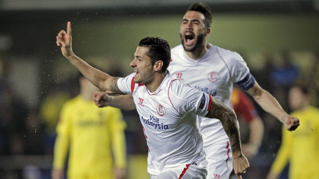 Vitolo e Iborra, en el Villarreal-Sevilla (Foto: AFP)
