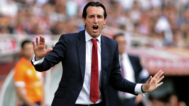 Emery, en el partido ante el Athletic