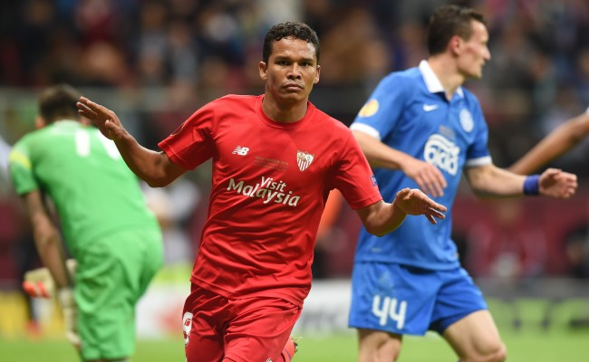 Bacca celebra su segundo gol en la final (AFP).