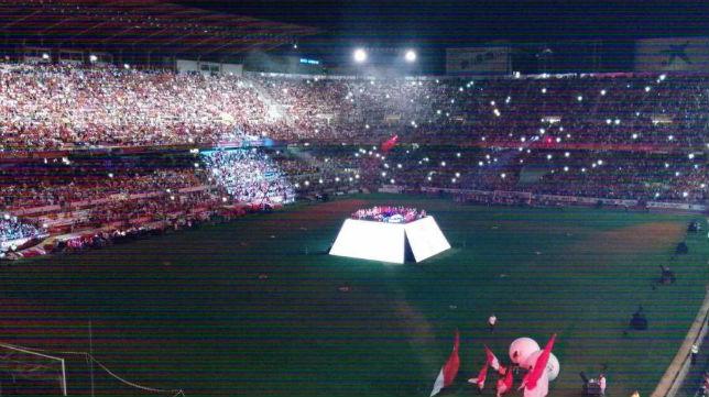 Celebración de la Liga Europa en el Sánchez-Pizjuán de Sevilla