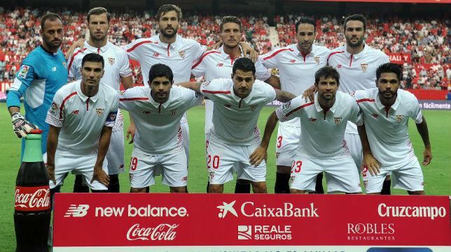Once del Sevilla ante el Atlético de Madrid