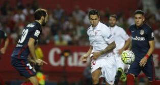 Vitolo, en acción en el partido contra el Atlético de Madrid