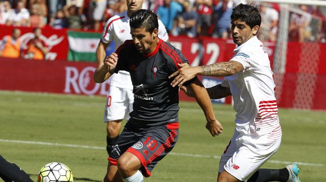 Lance del Sevilla FC-Celta de Vigo de la temporada 2015-2016