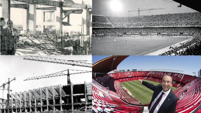Evolución del Sánchez-Pizjuán en 40 años