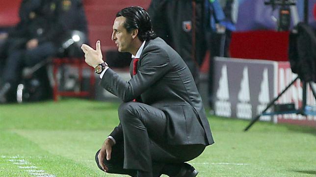 Emery, durante un partido del Sevilla