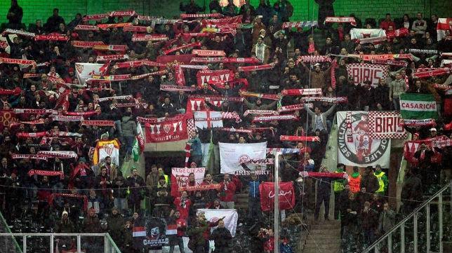 Casi 500 sevillistas se desplazaron a Mönchengladbach