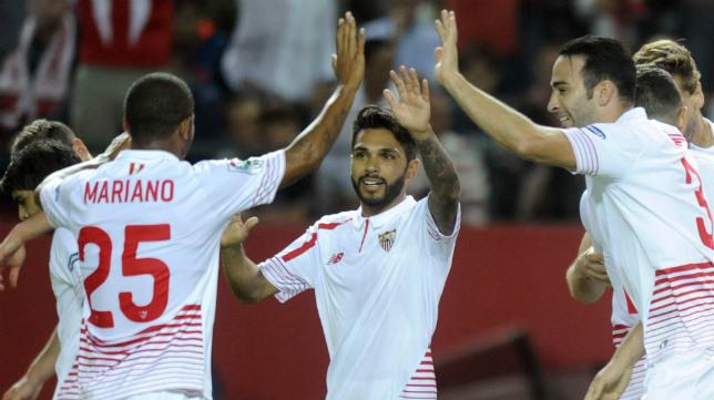 Tremoulinas, en el Sevilla FC-Real Madrid
