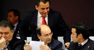 José María del Nido Carrasco y José Castro en la pasada junta de accionistas