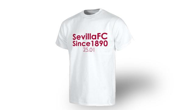 Los futbolistas saltarán al terreno de juego del Calderón con una camiseta conmemorativa de los 126 años del Sevilla FC