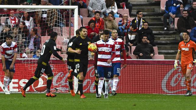 Lance del Granada-Sevilla FC de la temporada 2015-2016