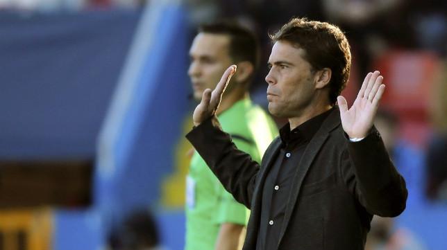 El técnico del Sporting, Rubi