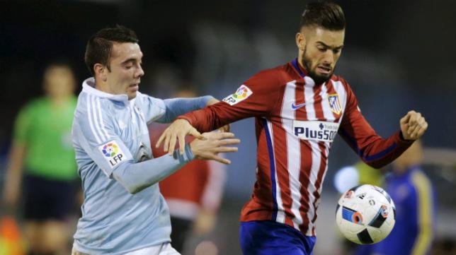 Iago Aspas, en el Atlético-Celta de Copa del Rey