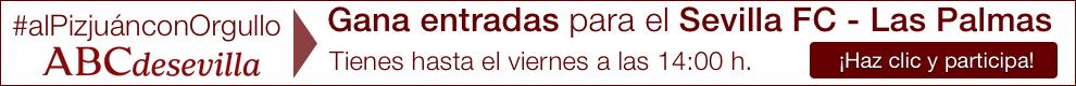 ¡Gana entradas para el Sevilla F.C. - Las Palmas! Participa en el sorteo de 4 entradas doble para el partido de Liga del próximo domingo, 14 de febrero a las 16:00 h, entre el Sevilla F.C. y el Las Palmas.