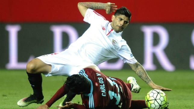 Banega, en un lance del Sevilla FC-Real Sociedad