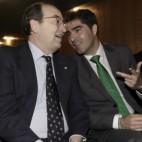 Castro, presidente del Sevilla FC, y Haro, su homólogo en el Betis (FOTO: JUAN FLORES)