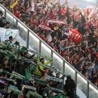 Aficionados del Sevilla y el Betis