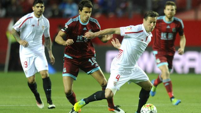 Krychowiak, durante el Sevilla FC-Real Sociedad