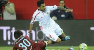 Tremoulinas, en un lance del Sevilla FC-Real Sociedad