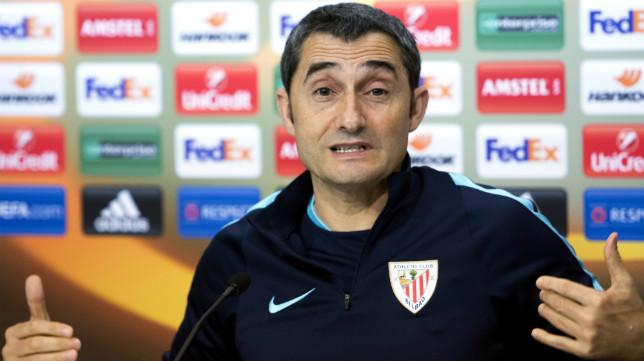 Valverde en la rueda de prensa previa al partido ante el Sevilla FC