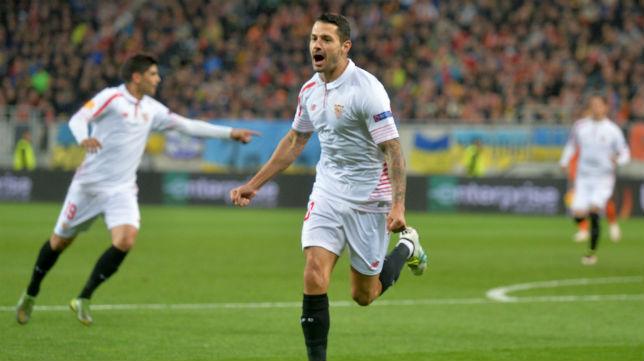 Vitolo celebra el gol anotado ante el Shakhtar (Foto: AFP)